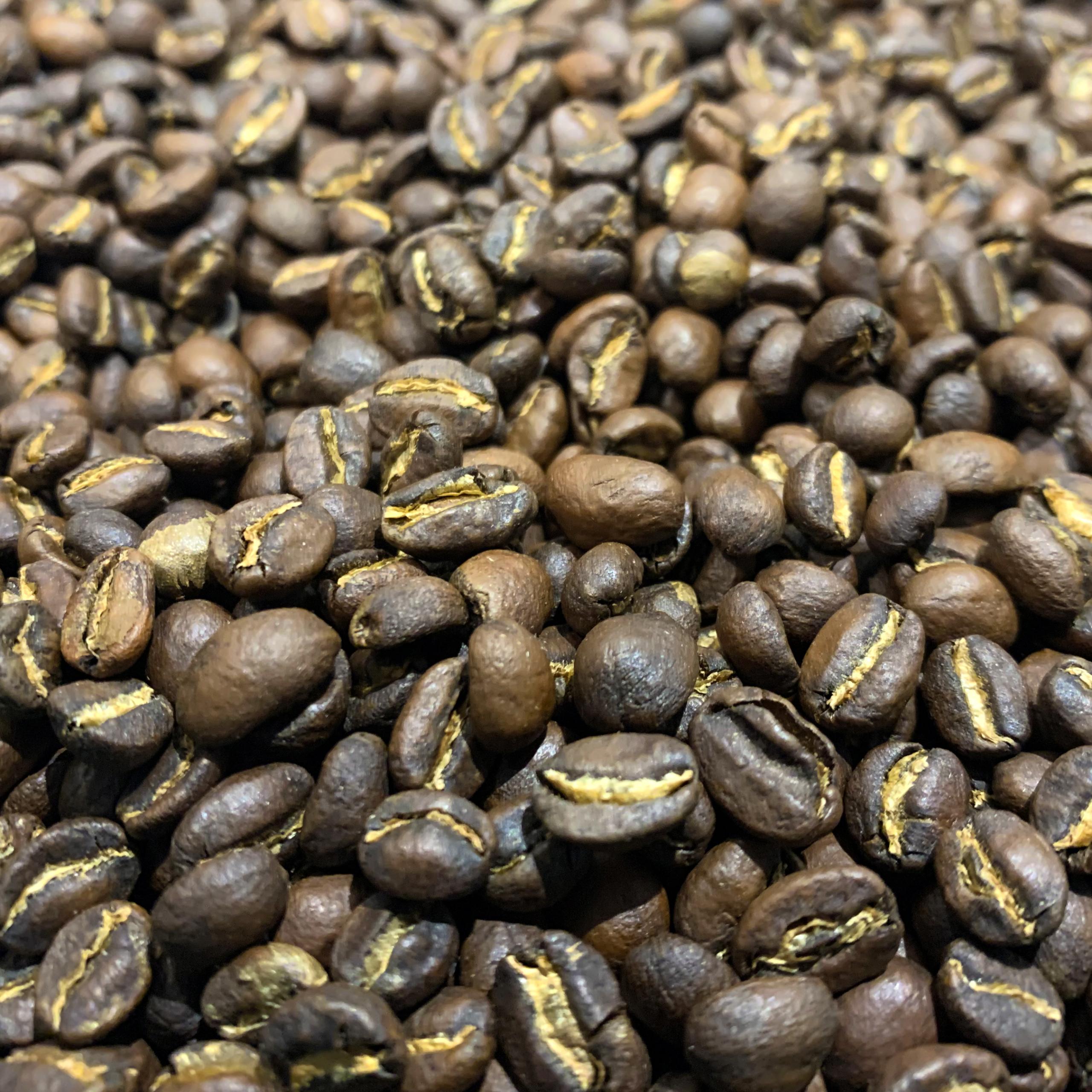 Grains de café torréfiés origine Éthiopie - Yirgacheffe