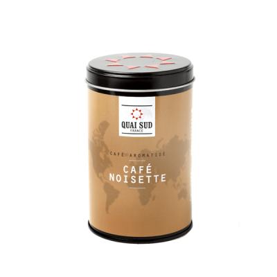 Boîte de café moulu aromatisé noisette