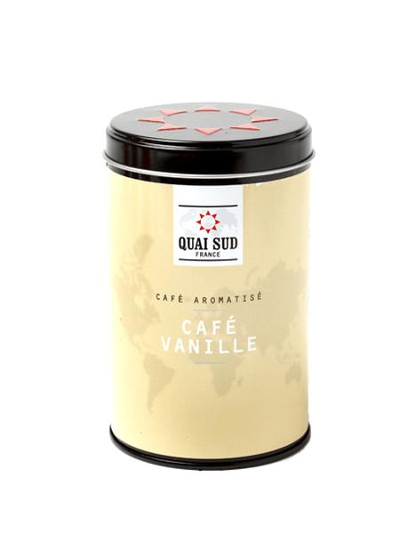 Boîte de café moulu aromatisé vanille